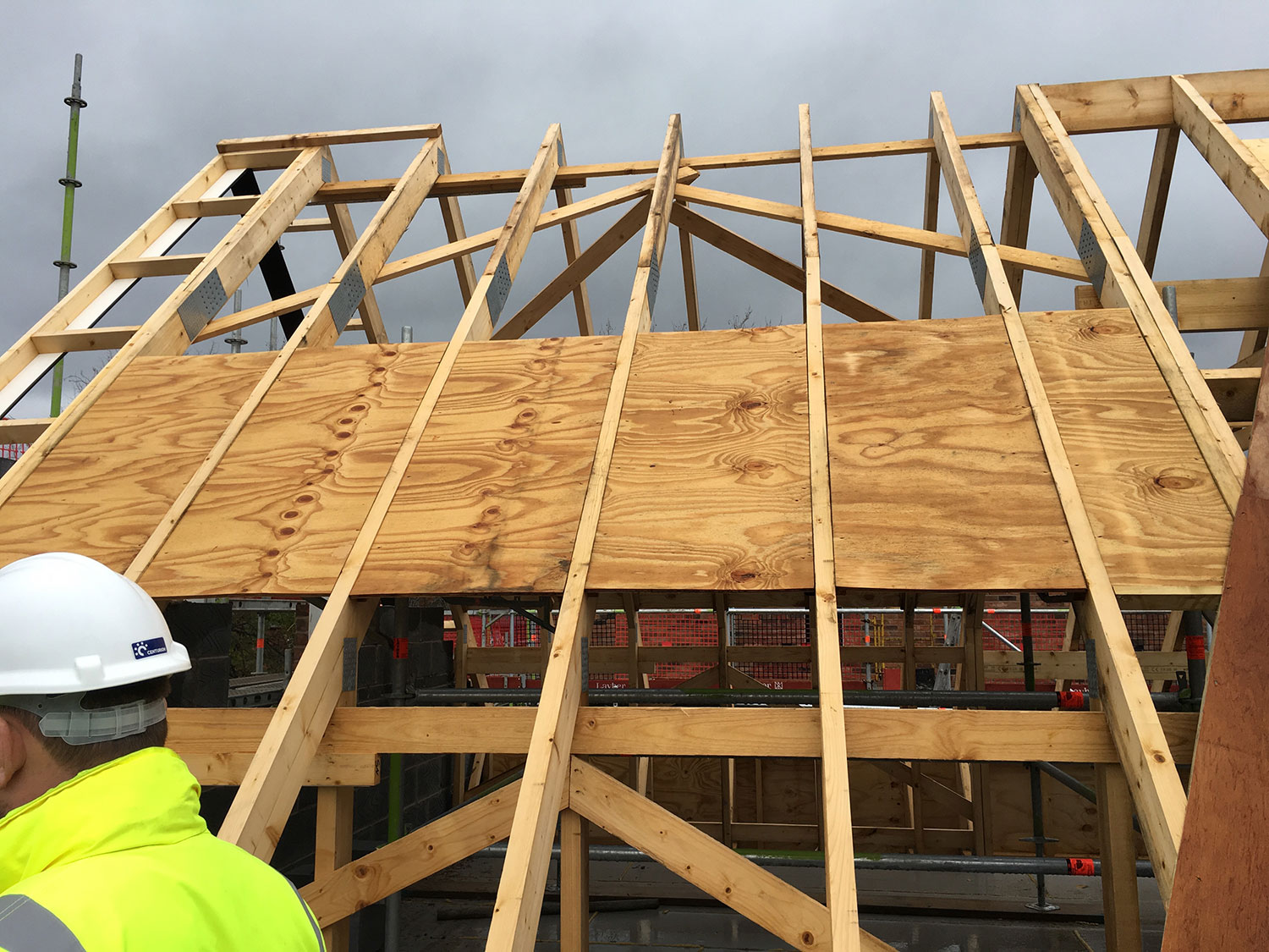 Cavendish road bellway wyder timber for Pre manufactured roof trusses